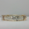 "ENGRAVED GOLD AND SILVER BANGLE -  Size 7 - ""My Little Girl"