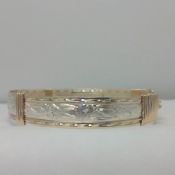 "ENGRAVED GOLD AND SILVER BANGLE - ""My Little Girl Yesterday"""