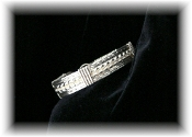 STERLING SILVER DOUBLE ROPE BANGLE BRACELET - Size 6 1/2